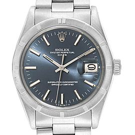 Rolex Date Vintage Blue Dial Stainless Steel Mens Watch 1501