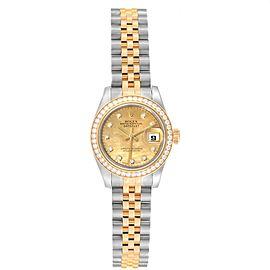 Rolex Datejust Steel Yellow Gold Diamond Goldust Dial Ladies Watch 179383