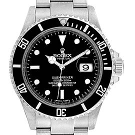 Rolex Submariner Date 40mm Stainless Steel Mens Watch 16610