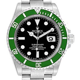 Rolex Submariner 50th Anniversary Green Kermit Watch 16610LV Unworn