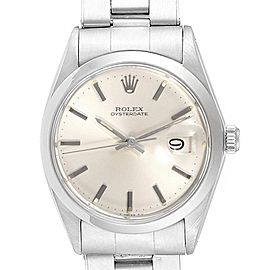 Rolex OysterDate Precision Silver Dial Oyster Bracelet Vintage Watch 6694