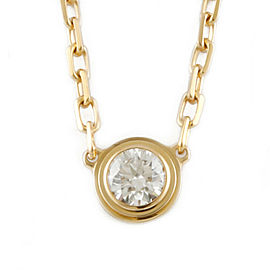 CARTIER 18k yellow Gold Diamond Diaman Leger Necklace HK-2085