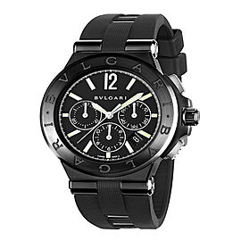 Bulgari Diagono Ultranero Black DLC Chrono 42mm Mens Watch DG42BBSCVDCH