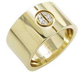 Cartier Love 18K Yellow Gold Diamond Ring Size 5.75