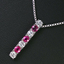 Platinum/diamond/Ruby Necklace
