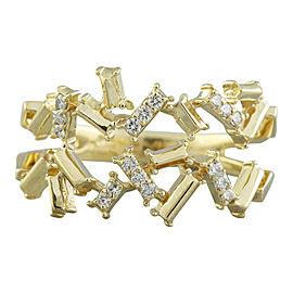 0.22 Carat 14K Yellow Gold Diamond Ring