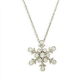Tiffany & Co. Platinum Diamond Snowflake Necklace