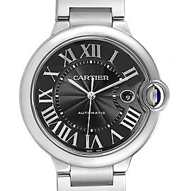 Cartier Ballon Bleu 42 Black Dial Steel Mens Watch W6920042