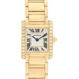 Cartier Tank Francaise Small 18K Yellow Gold Diamond Watch WE1001R8