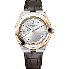 Vacheron Constantin Overseas 2300V/000M-B400 Stainless Steel & Leather with Silver Dial 37mm Womens Watch
