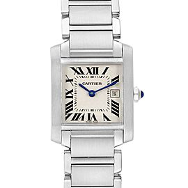 Cartier Tank Francaise Midsize Silver Dial Ladies Watch W51011Q3