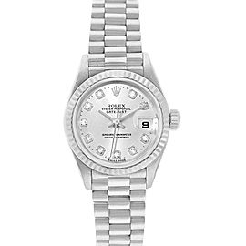 Rolex President Datejust 26 White Gold Diamond Dial Ladies Watch 69179
