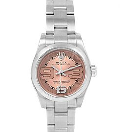 Rolex Nondate Pink Dial Domed Bezel Ladies Watch 176200