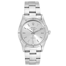 Rolex Air King 34 Silver Dial Steel Mens Watch 14010