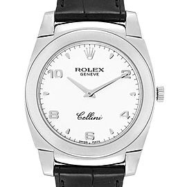 Rolex Cellini Cestello 18K White Gold Mens Watch 5330 Box Papers
