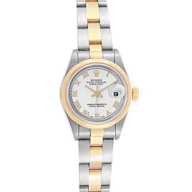 Rolex Datejust Steel Yellow Gold White Dial Ladies Watch 69163