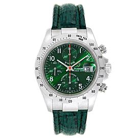 Tudor Tiger Woods Chronograph Green Dial Steel Mens Watch 79280P