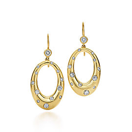 Kwiat 18k Yellow Gold Hanging Earrings From The Cobblestone Collection