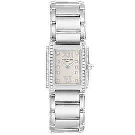 Patek Philippe Twenty-4 18K White Gold Diamond Ladies Watch 4908/200G-011