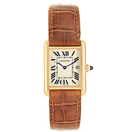 Cartier Tank Louis Yellow Gold Brown Strap Watch W1529756