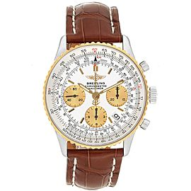 Breitling Navitimer Steel Yellow Gold Brown Strap Watch D23322
