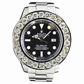Rolex Sea-Dweller SD4000 Stainless Steel with Diamond 46mm Mens Watch