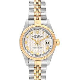 Rolex Datejust 26 Steel Yellow Gold Ladies Watch 69173 Box Papers
