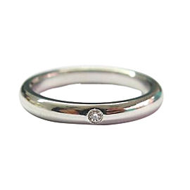 Tiffany & Co Platinum Elsa Peretti Diamond Ring