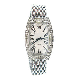 Bedat Stainless Steel Diamond Bezel Watch