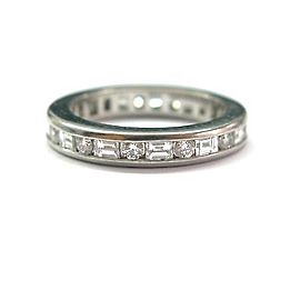 Tiffany & Co. Platinum Multi Shape Diamond Eternity Band Ring