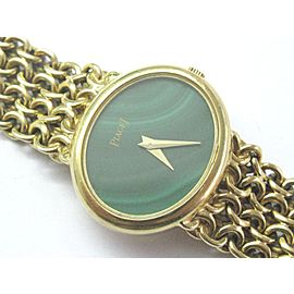 Piaget 18K Womens Malachite Dial Yellow Gold Quartz Watch