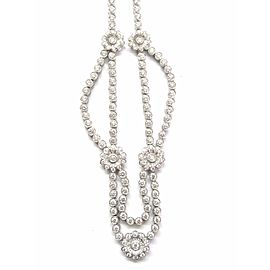 Tiffany & Co. Rose Collection Platinum Diamond Necklace