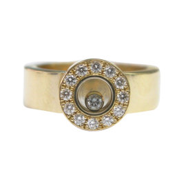 Chopard Happy Diamonds 18K Yellow Gold Diamond Ring Size 6.75