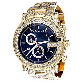 Gucci YA101334 Gold PVD Coated Stainless Steel Quartz 44mm Mens Watch