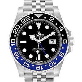 Rolex GMT Master II Black Blue Batman Jubilee Steel Watch 126710 Unworn