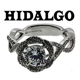 Hidalgo 18K White Gold Diamond Engagement Ring Size 6.75