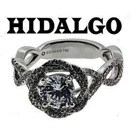 Hidalgo 18K White Gold Diamond Engagement Ring Size 6.75