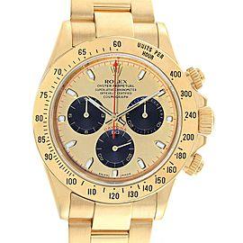 Rolex Daytona Yellow Gold Paul Newman Dial Mens Watch 116528