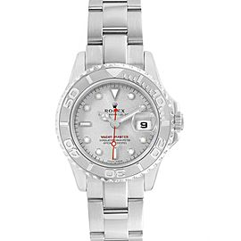 Rolex Yachtmaster 29 Steel Platinum Ladies Watch 169622 Box