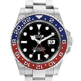 Rolex GMT Master II White Gold Pepsi Bezel Mens Watch 116719 Box