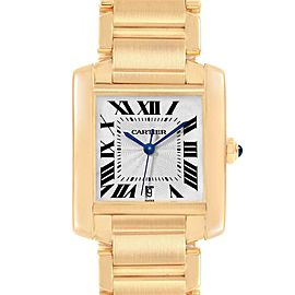 Cartier Tank Francaise Large Yellow Gold Automatic Mens Watch W50001R2