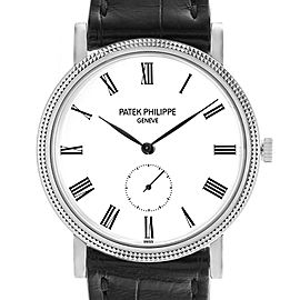 Patek Philippe Calatrava 18k White Gold Automatic Mens Watch 5119