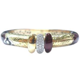 Nouvelle Bague 18K Yellow Gold Diamond Enamel Bracelet