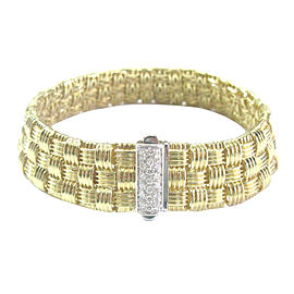 Roberto Coin Appassionata 18K Yellow Gold & 0.22ct Diamond 3-Row Bracelet