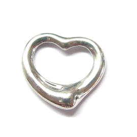 Tiffany & Co 18Kt Elsa Peretti White Gold 14mm Heart Pendant