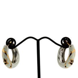 Versace 18K Rose Gold, Sterling Silver Earrings