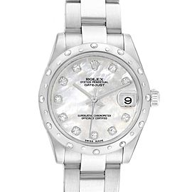Rolex Datejust 31 Midsize Steel MOP Diamond Ladies Watch 178344
