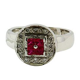 Le Vian 18K White Gold Diamond & Ruby Ring