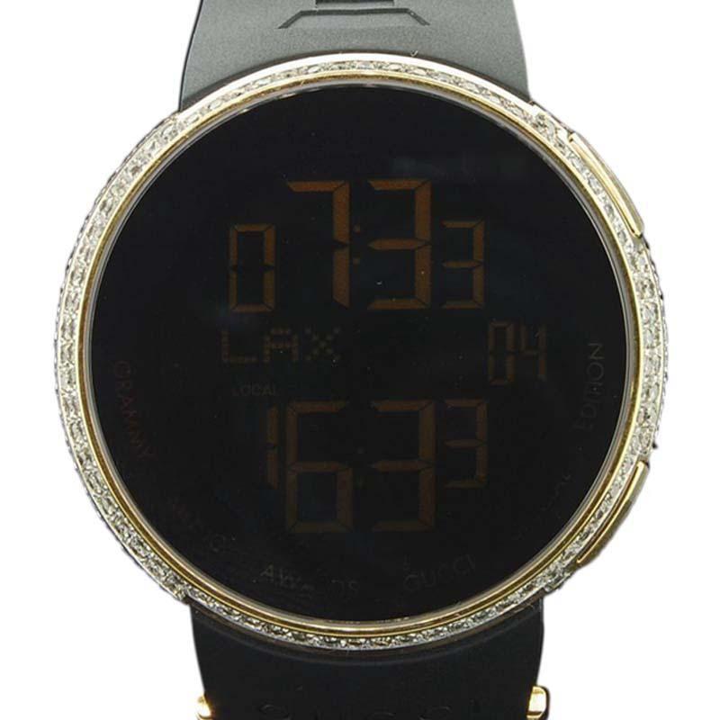 a19529047da Gucci YA114215 Gold Tone Stainless Steel Quartz 44mm Mens Watch ...