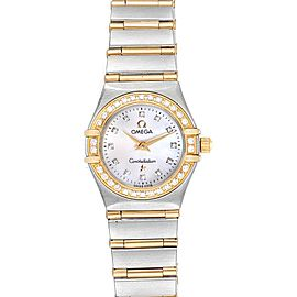 Omega Constellation MOP Diamond Ladies Watch 1267.75.00 Box Card